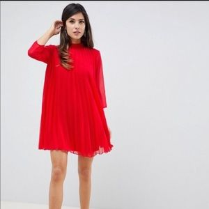 NWT ASOS Design Red Babydoll Dress
